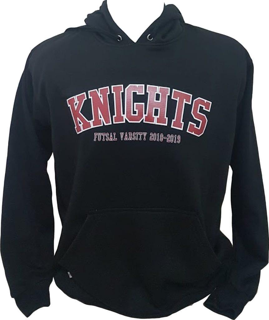 jaket print bertuliskan knights