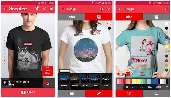 aplikasi desain android Snaptee