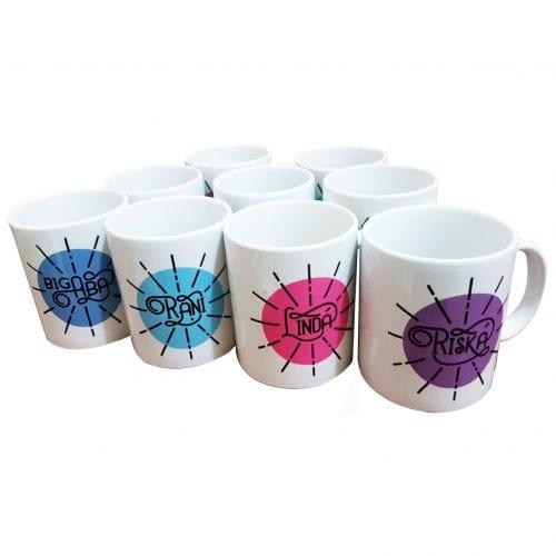 Desain Template Mug Custom Unik untuk Hadiah