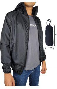 model jaket lipat polos hitamm.