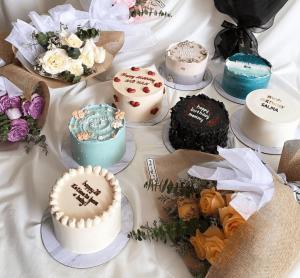 minimalist korean cake