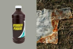 Menggunakan larutan krim tartar, bubuk soda dan hydrogen peroksida