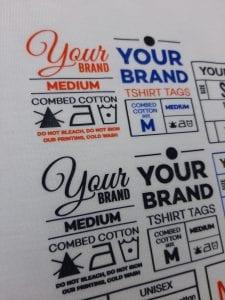 Print DTF Label Brand Kaos dari Tshirtbar