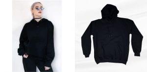 hoodie hitam untuk wanita
