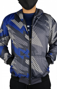 fullprint jacket zipper cowo