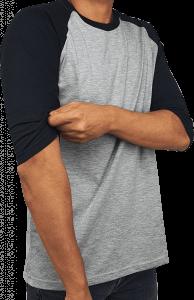 raglan black - grey